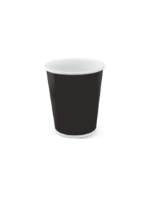 SINGLE WALL BLACK HOT CUP 23.6CL PACK OF 50