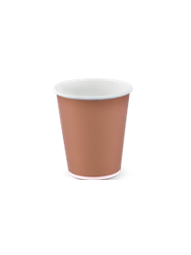 SINGLE WALL BROWN HOT CUP 35.4CL PACK OF 50