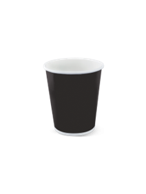 SINGLE WALL BLACK HOT CUP 35.4CL PACK OF 50