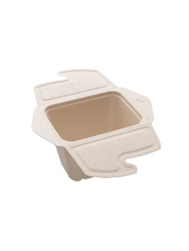 BEPULP MEAL BOX TO GO SQUARE 50CL 13X13X7CM PACK OF 150