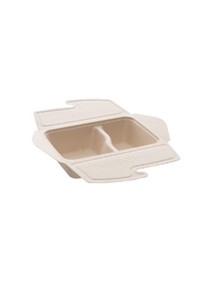 BEPULP MEAL BOX TO GO 2 COMPARTMENTS 50CL/30CL 21X15X5CM PACK OF 75