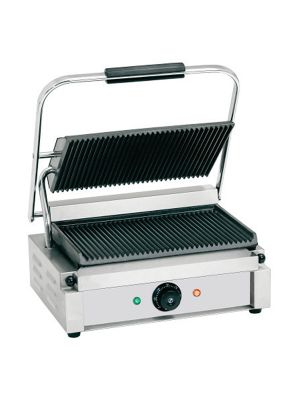 PANINI GRILL SINGLE GROOVED PLATES 2200W 230V