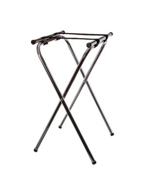 TRAY STAND DELUXE CHROME 49.5X58.1XH78.7CM