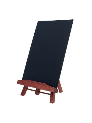 TABLE CHALK BOARD EASEL MENU STAND INCLUDING A4 CHALK BOARD WOOD WITH LACQUERED