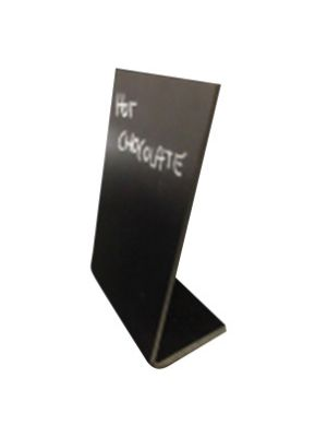 TABLE CHALK BOARD L-SHAPED A5 FROSTED FRONT WITH A GLOSS BACK 3 PCS BLACK