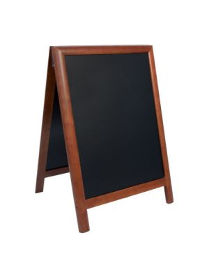 CHALK BOARD DUPLO HARD WOOD PAVEMENT WITH LACQUERED DARK DROWN FINISH 55X85CM