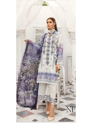 NUR' Festive Luxurious Embroidered Lawn