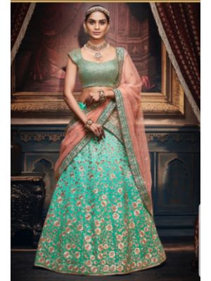 Unstitched Silk Lehenga With Silk Top Best For Festive Seasons