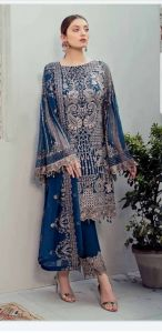 Rangoon Designer Wear with Lining Material